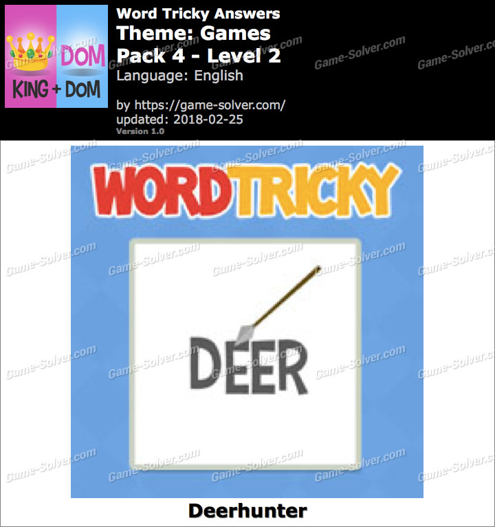 Word Tricky Games Pack 4-Level 2 Answers