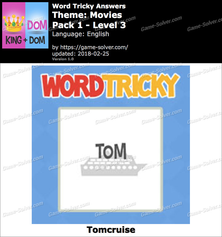 Word Tricky Movies Pack 1-Level 3 Answers