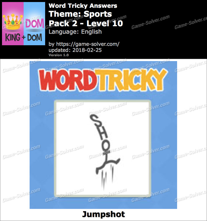 Word Tricky Sports Pack 2-Level 10 Answers