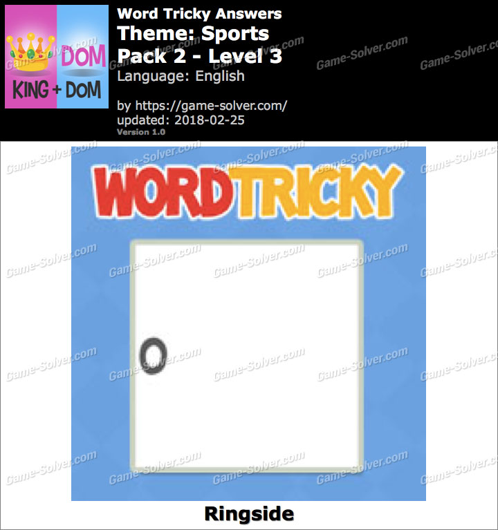 Word Tricky Sports Pack 2-Level 3 Answers