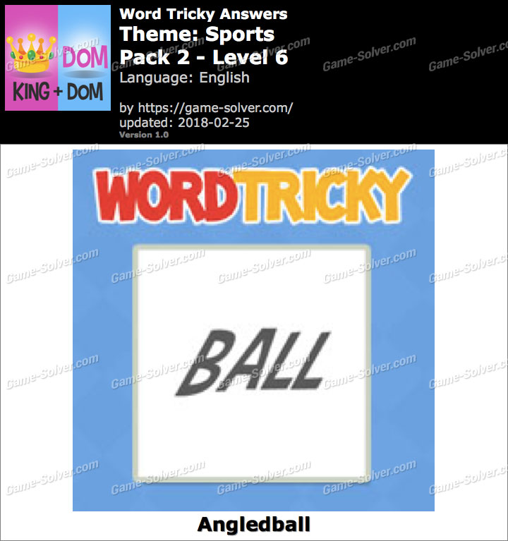 Word Tricky Sports Pack 2-Level 6 Answers