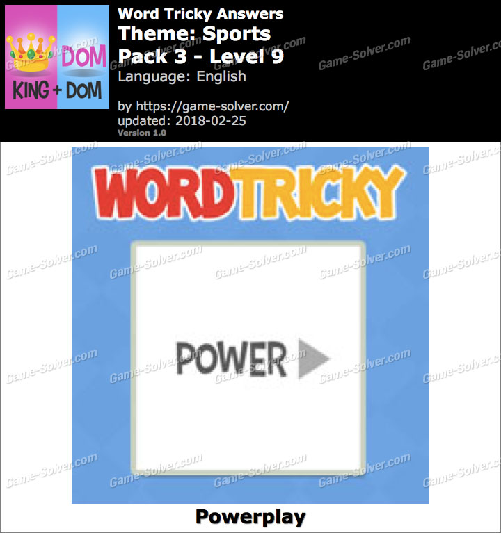 Word Tricky Sports Pack 3-Level 9 Answers