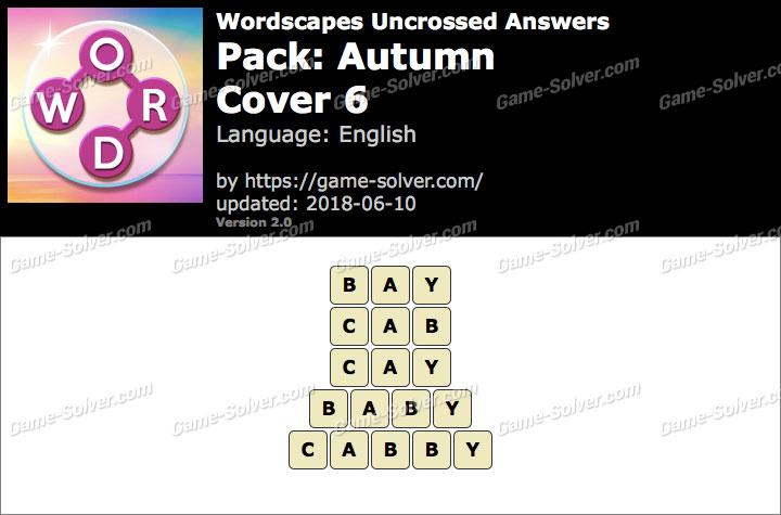 Wordscapes Uncrossed Autumn-Cover 6 Answers