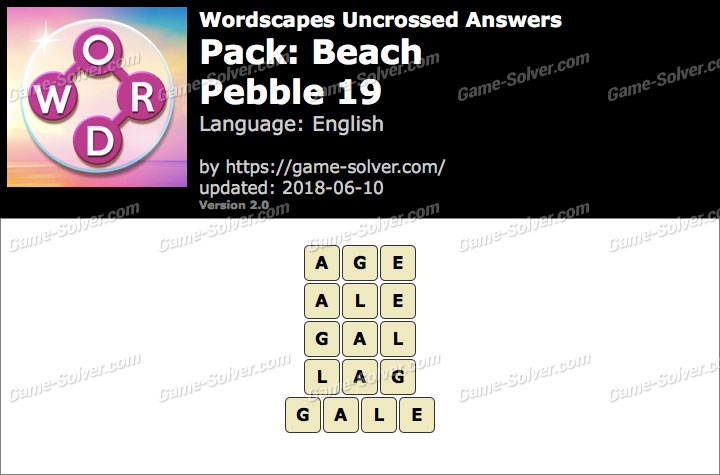 Wordscapes Uncrossed Beach-Pebble 19 Answers