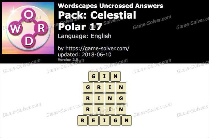 Wordscapes Uncrossed Celestial-Polar 17 Answers