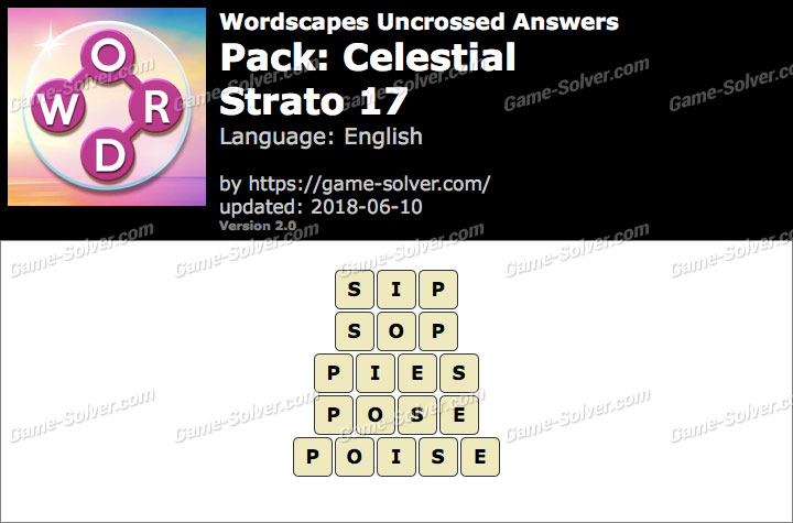 Wordscapes Uncrossed Celestial-Strato 17 Answers