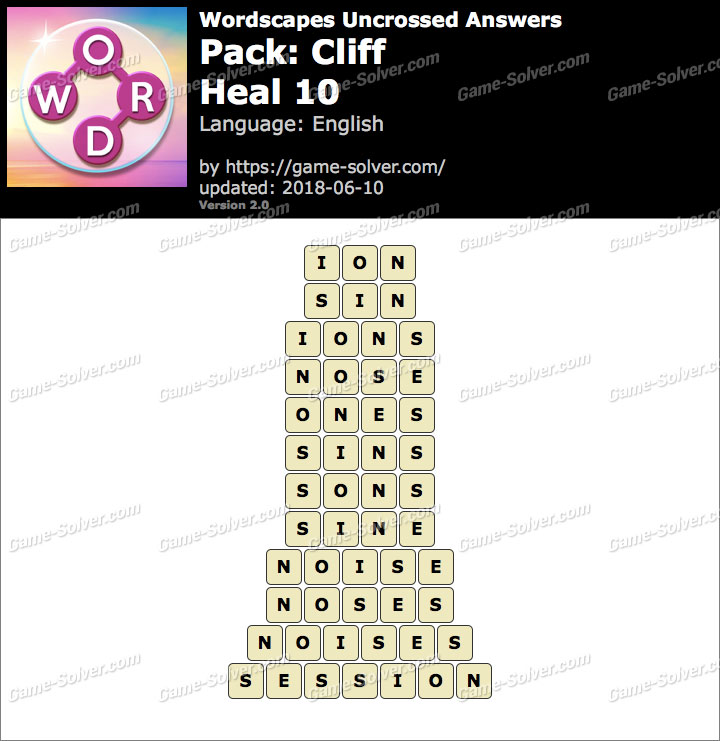 Wordscapes Uncrossed Cliff-Heal 10 Answers