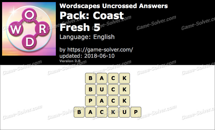 Wordscapes Uncrossed Coast-Fresh 5 Answers