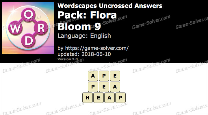 Wordscapes Uncrossed Flora-Bloom 9 Answers
