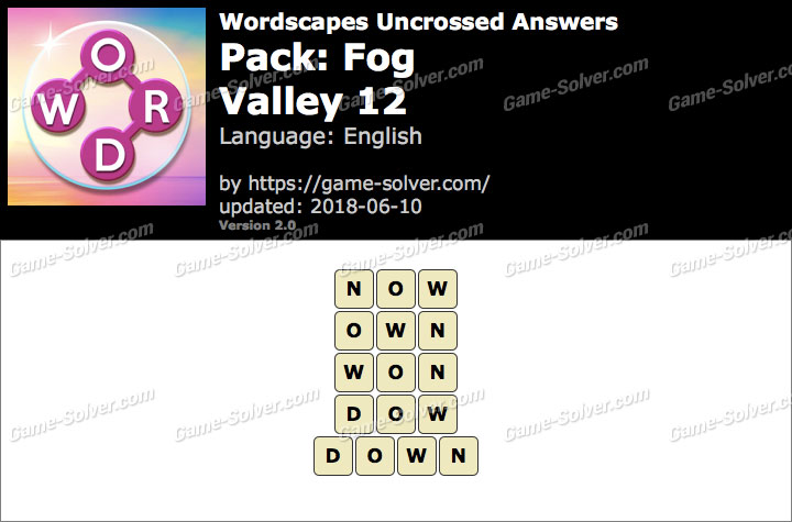 Wordscapes Uncrossed Fog-Valley 12 Answers
