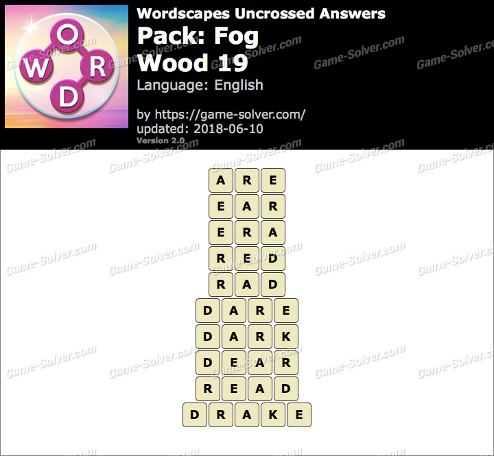 Wordscapes Uncrossed Fog-Wood 19 Answers