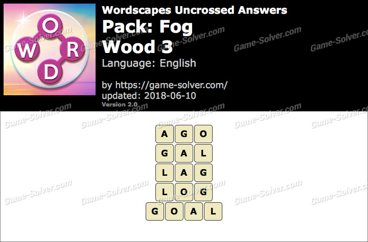 Wordscapes Uncrossed Fog-Wood 3 Answers