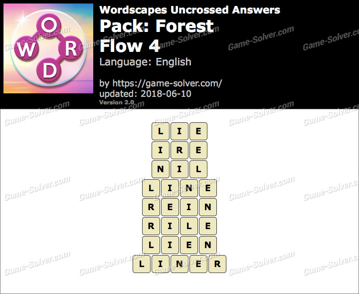 Wordscapes Uncrossed Forest-Flow 4 Answers