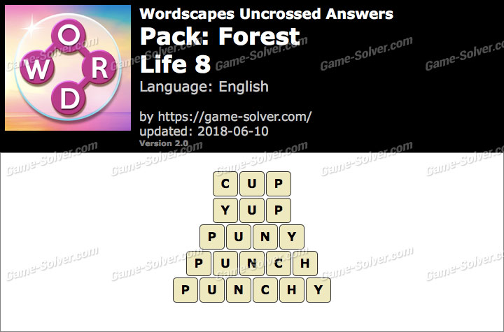 Wordscapes Uncrossed Forest-Life 8 Answers