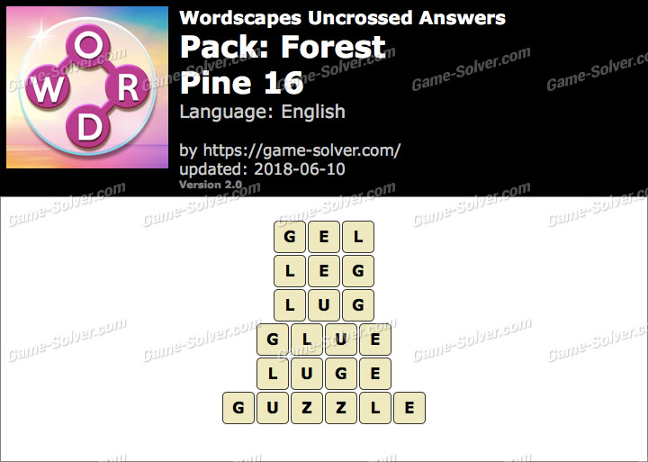 Wordscapes Uncrossed Forest-Pine 16 Answers