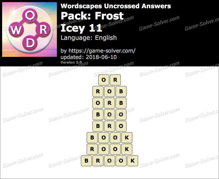 Wordscapes Uncrossed Frost-Icey 11 Answers