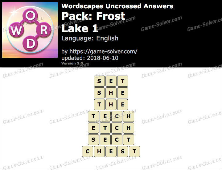 Wordscapes Uncrossed Frost-Lake 1 Answers