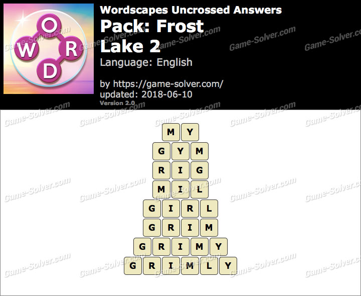 Wordscapes Uncrossed Frost-Lake 2 Answers