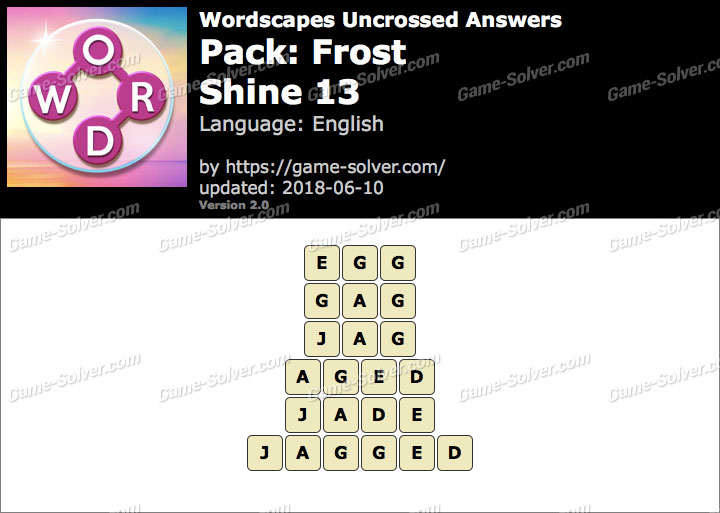 Wordscapes Uncrossed Frost-Shine 13 Answers