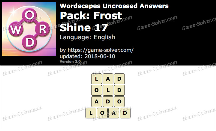 Wordscapes Uncrossed Frost-Shine 17 Answers
