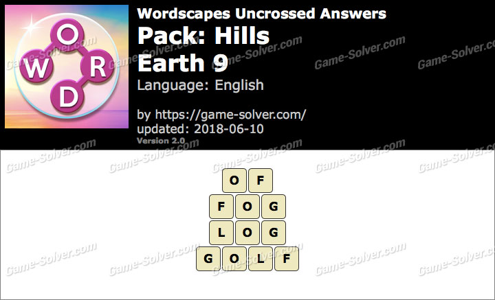 Wordscapes Uncrossed Hills-Earth 9 Answers