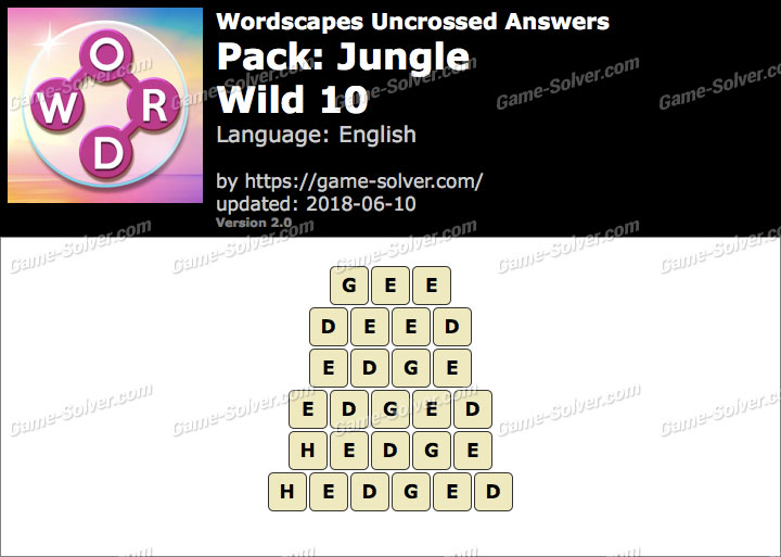 Wordscapes Uncrossed Jungle-Wild 10 Answers