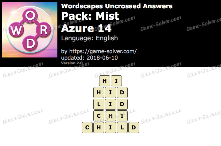 Wordscapes Uncrossed Mist-Azure 14 Answers