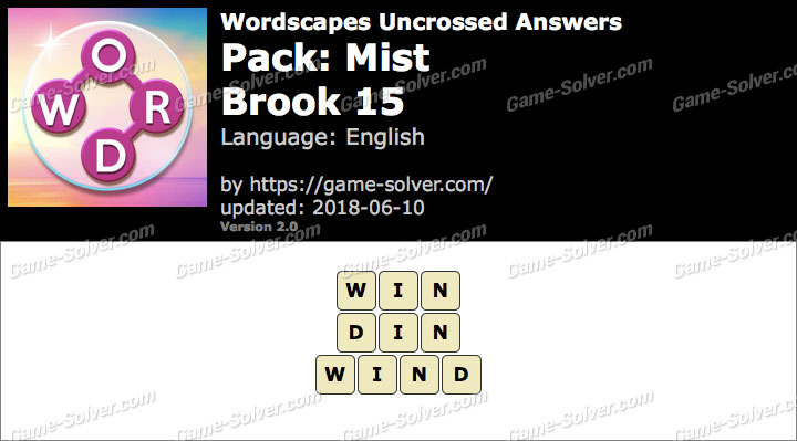 Wordscapes Uncrossed Mist-Brook 15 Answers