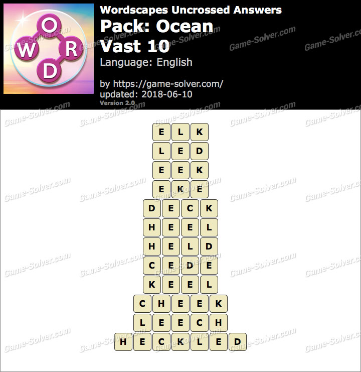 Wordscapes Uncrossed Ocean-Vast 10 Answers