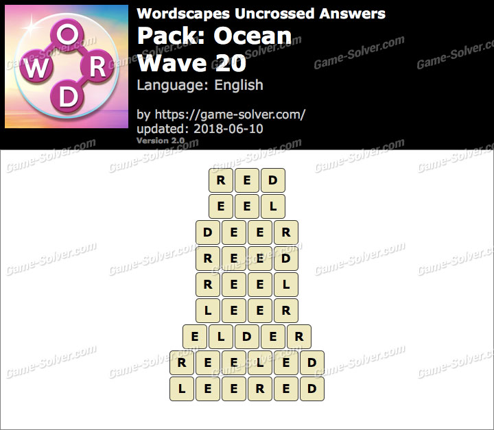Wordscapes Uncrossed Ocean-Wave 20 Answers