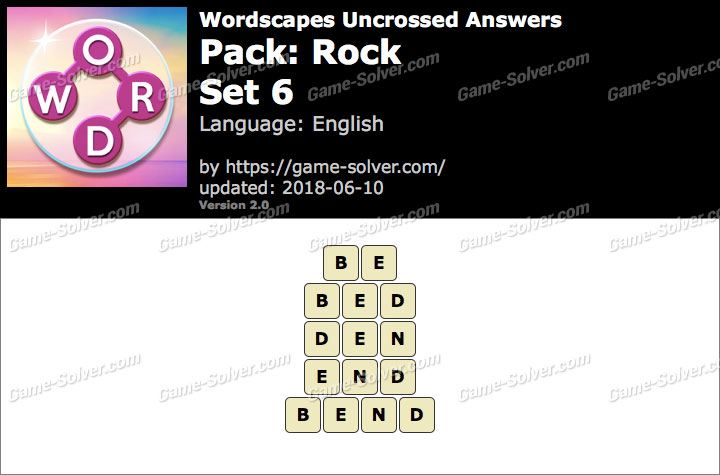 Wordscapes Uncrossed Rock-Set 6 Answers