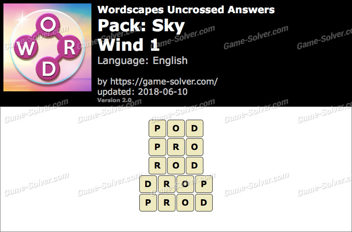 Wordscapes Uncrossed Sky-Wind 1 Answers