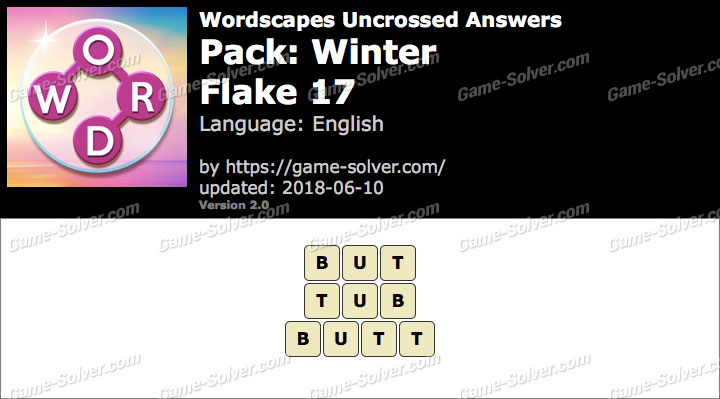 Wordscapes Uncrossed Winter-Flake 17 Answers