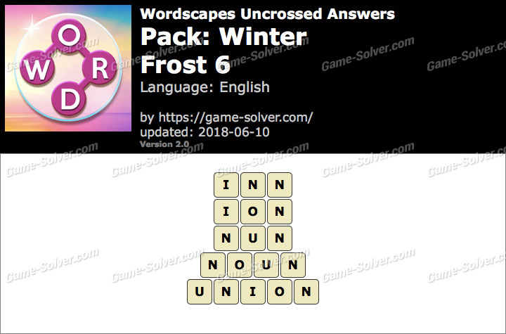 Wordscapes Uncrossed Winter-Frost 6 Answers