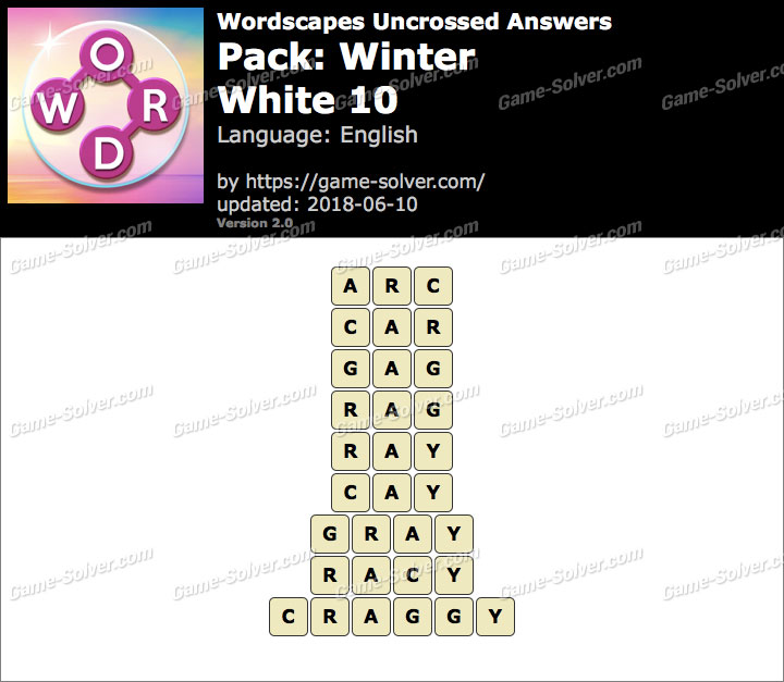 Wordscapes Uncrossed Winter-White 10 Answers