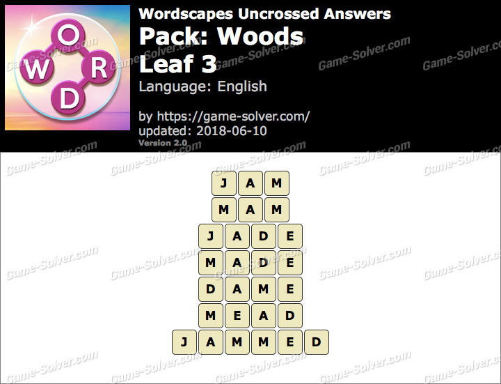 Wordscapes Uncrossed Woods-Leaf 3 Answers