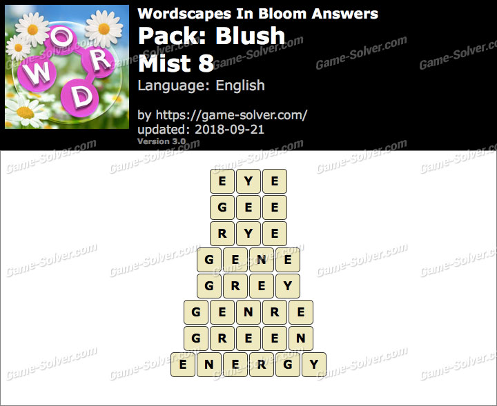 Wordscapes In Bloom Blush-Mist 8 Answers