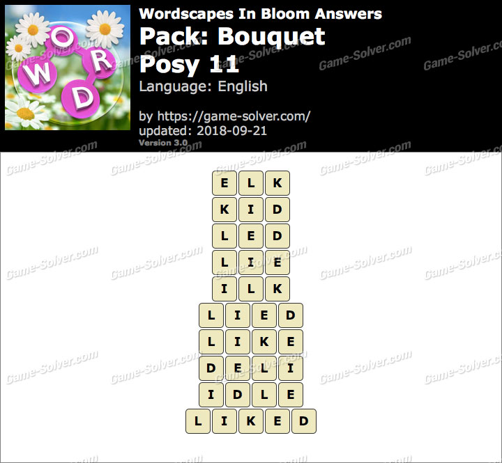Wordscapes In Bloom Bouquet-Posy 11 Answers