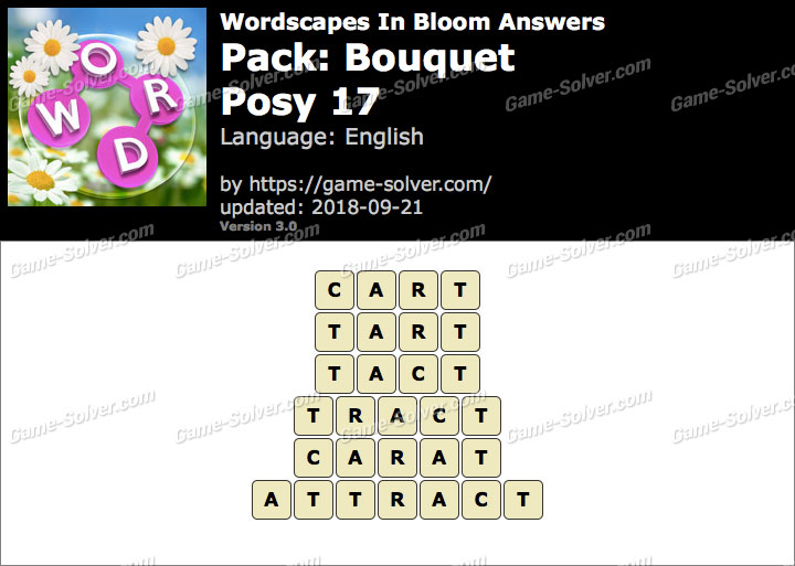 Wordscapes In Bloom Bouquet-Posy 17 Answers