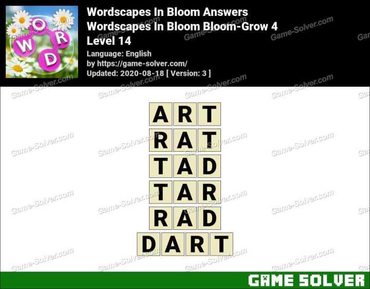 Wordscapes In Bloom Fields-Wind 14 Answers