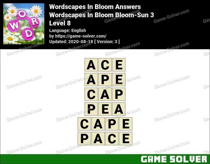 Wordscapes In Bloom Fields-Wind 8 Answers