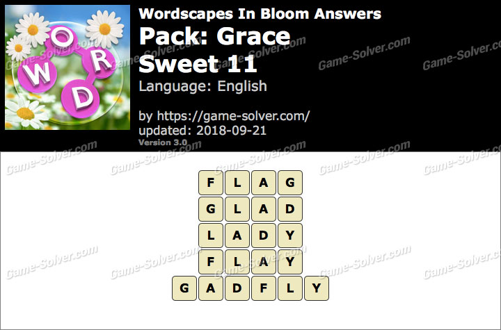 Wordscapes In Bloom Grace-Sweet 11 Answers
