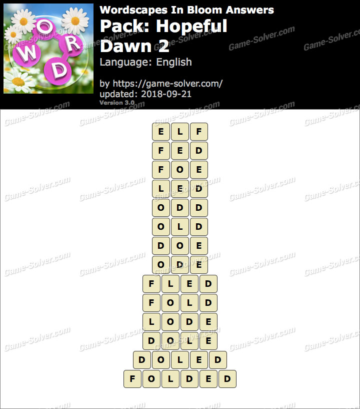 Wordscapes In Bloom Hopeful-Dawn 2 Answers