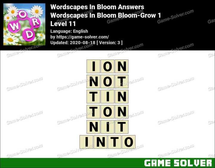 Wordscapes In Bloom Hopeful-Kiku 11 Answers