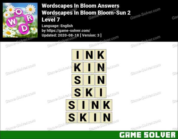 Wordscapes In Bloom Hopeful-Kiku 7 Answers