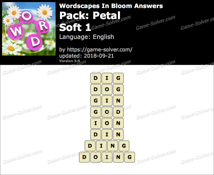 Wordscapes In Bloom Petal-Soft 1 Answers