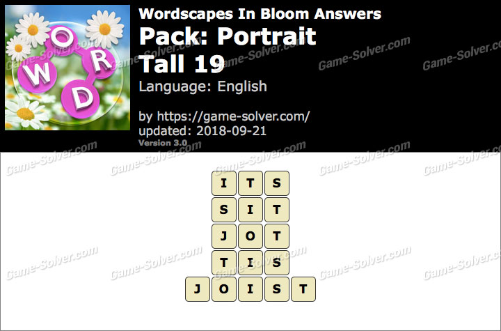 Wordscapes In Bloom Portrait-Tall 19 Answers