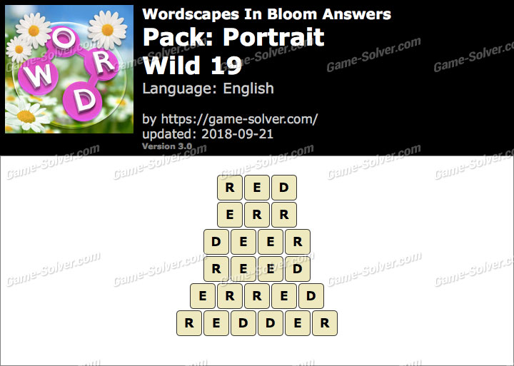 Wordscapes In Bloom Portrait-Wild 19 Answers