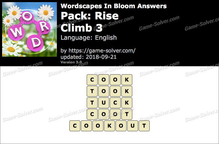 Wordscapes In Bloom Rise-Climb 3 Answers