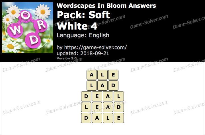 Wordscapes In Bloom Soft-White 4 Answers